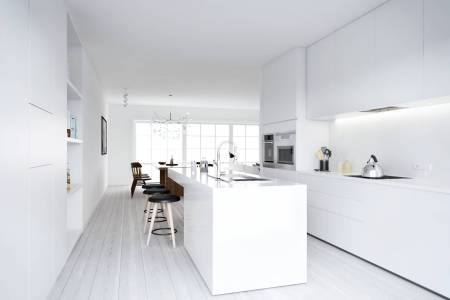 atdesign nordic style minimalist kitchen in white