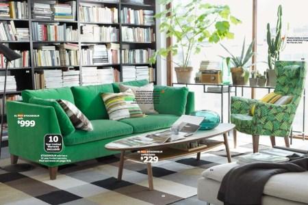 ikea green living room