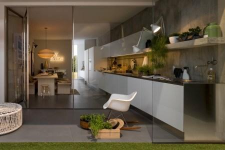 linear kitchen design gl doors 1