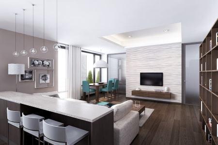 sleek modern apartment 6