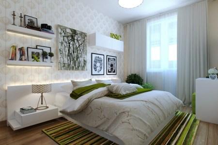 5 green white bedroom