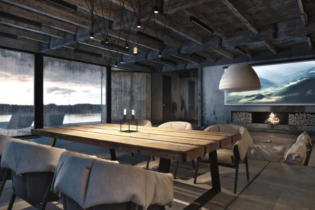 1 rustic dining table