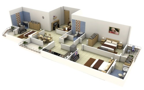 Medium Of Apartment Design Plan