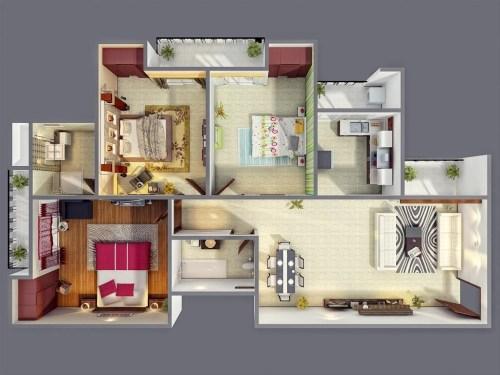 Medium Of 3 Bedroom House
