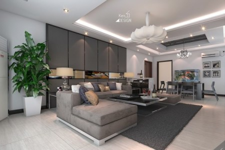 sleek living room decor 600x450