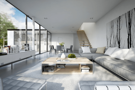 25 modern living rooms with cool, clean lines