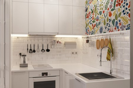 tiny kitchen design wall art