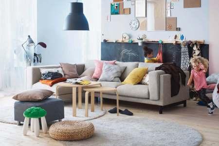 artsy living room ikea