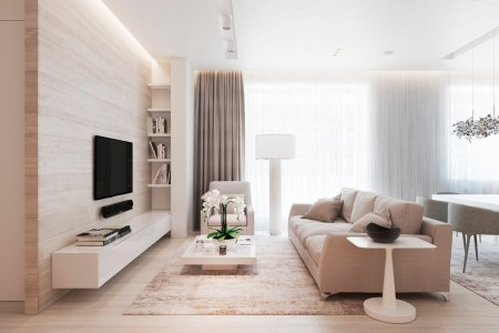 chic beige and wood interior