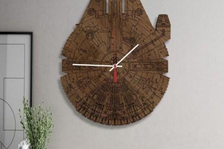 wood star wars clock 600x600