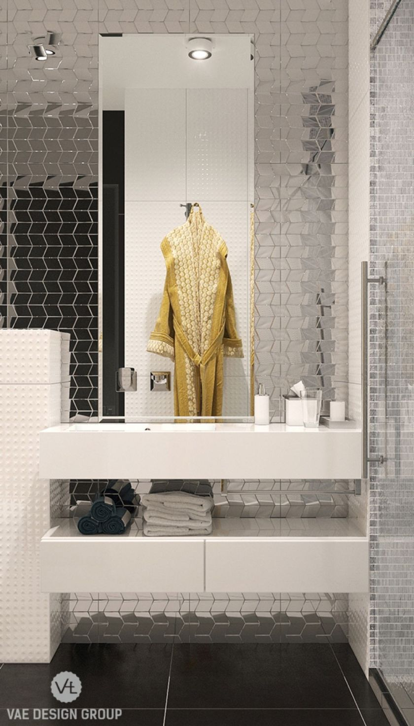 metallic-silver-feature-wall-mirrored-minimal-yet-bling