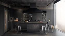 Small Of Black Kitchen Walls