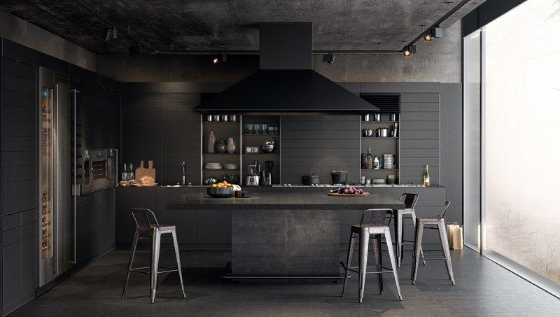 Large Of Black Kitchen Walls