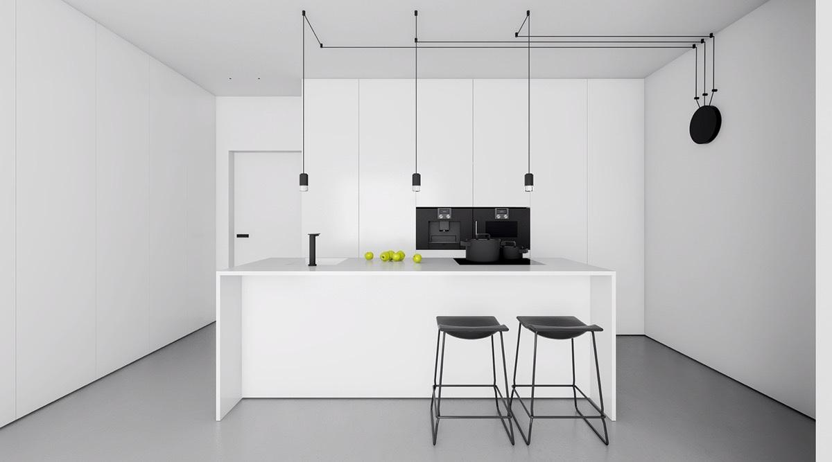 40 beautiful black white kitchen designs white kitchen designs 6 Visualizer Inuti
