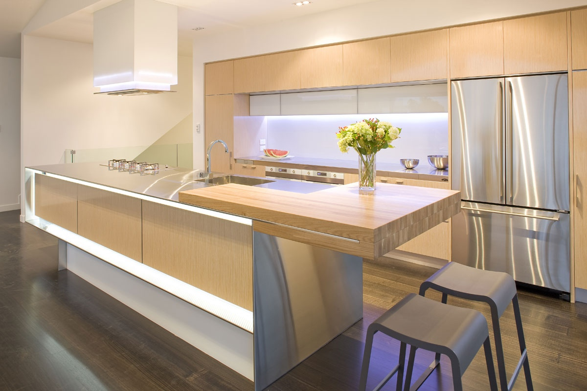 2 light wood kitchen cabinets 19 Clean and Simple