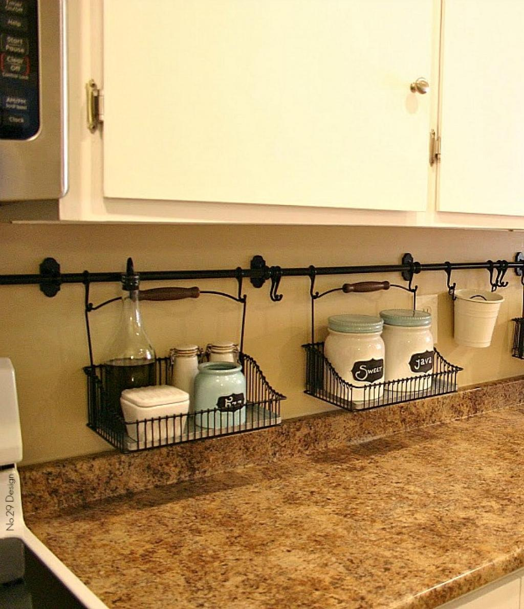 best kitchen organization ideas kitchen organization ideas 16 Attractive Hanging Wire Baskets Hold Items You Need On Hand