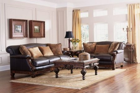 masive wood furniture for traditional living