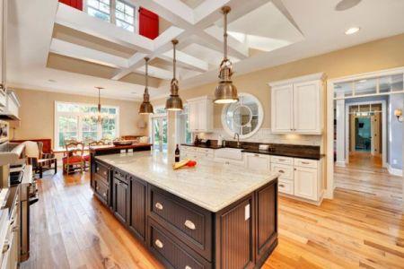 big kitchen island