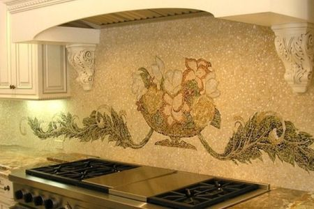 kitchen backsplash design hood