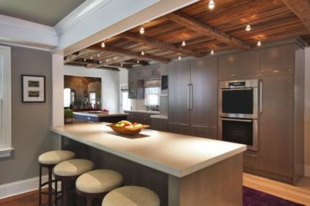 exposed beams for kitchen