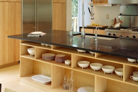 kitchen open shelving low