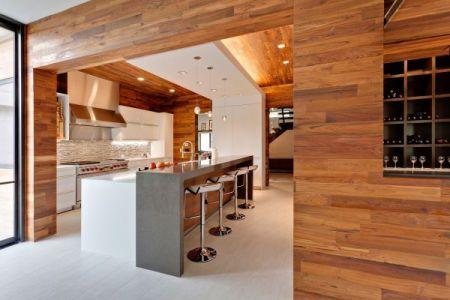 wooden kitchen modern style