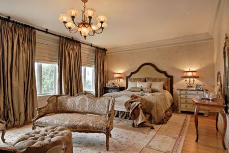 elegant but romantic bedroom