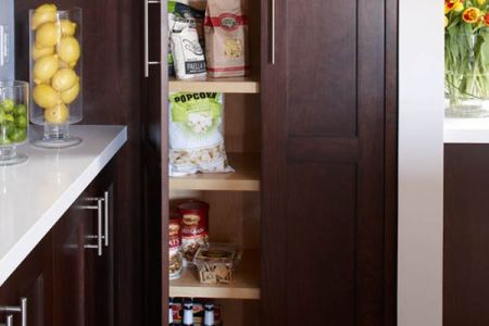 small pantry in kitchen