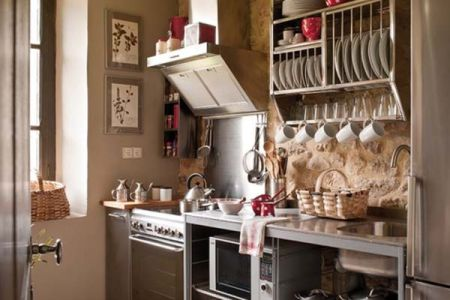 stainless small kitchen