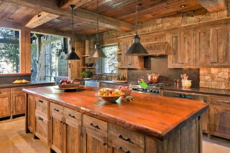 mountain rustic kitchen industrial lamp
