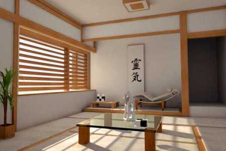 zen living room asian inpired