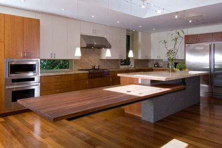 floating kitchen island extension