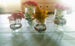 Enthralling Fake Flowers Candles Mason Jar Centerpieces Twine Fall Centerpieces Mason Jar Centerpieces Quick Diy Mason Jars
