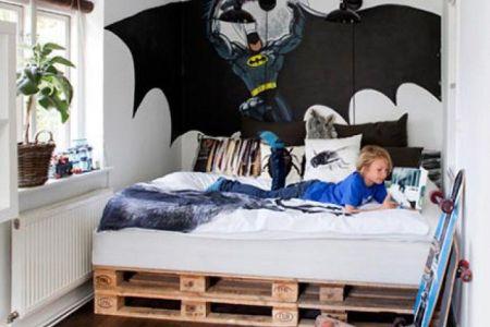 ... b6243189c8fc72805cb4e0cfd6e14234  pallet bed kids room batman wall ...