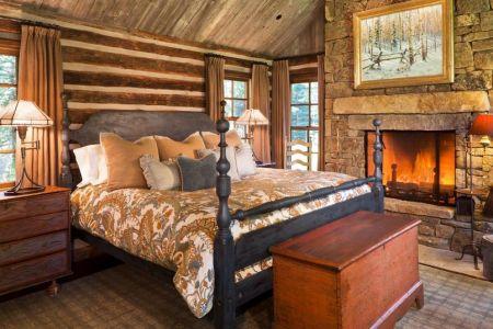 fireplace bedroom rustic bedroom design