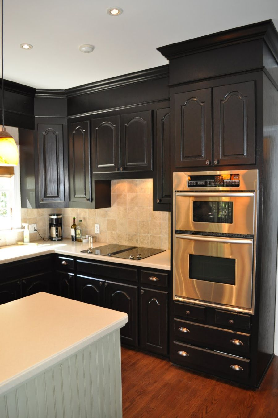 black kitchen cabinets pictures of kitchen cabinets Black Cabinets with Soffits