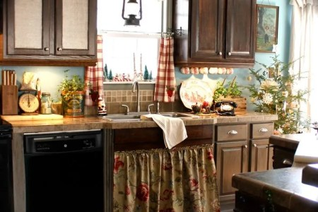 christmas french country kitchen decor