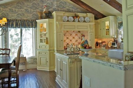 soft pale colors for a french country kitchen