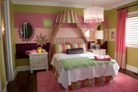 teenage cute bedroom canopy bed
