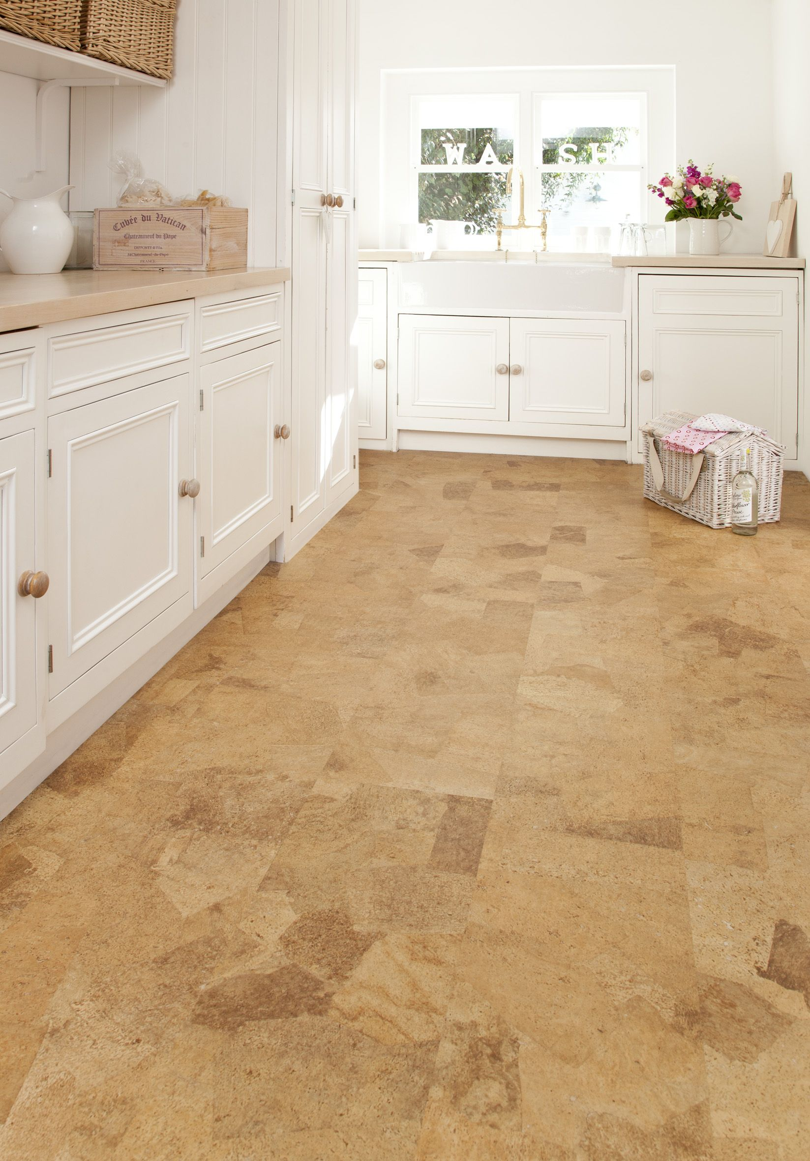 floor tile designs cork flooring kitchen Cork floor kitchen