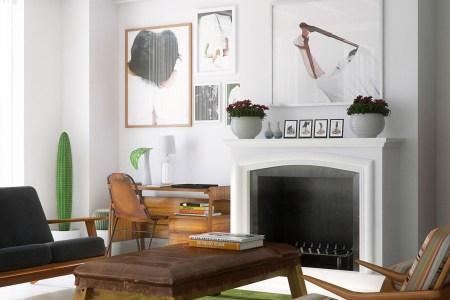 modern mid century living room