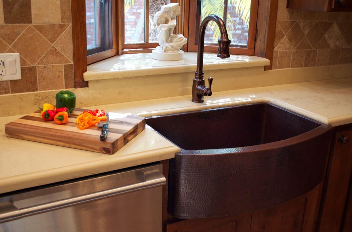 choose a copper farmhouse sink copper kitchen faucets copper farmhouse sink and matching faucet