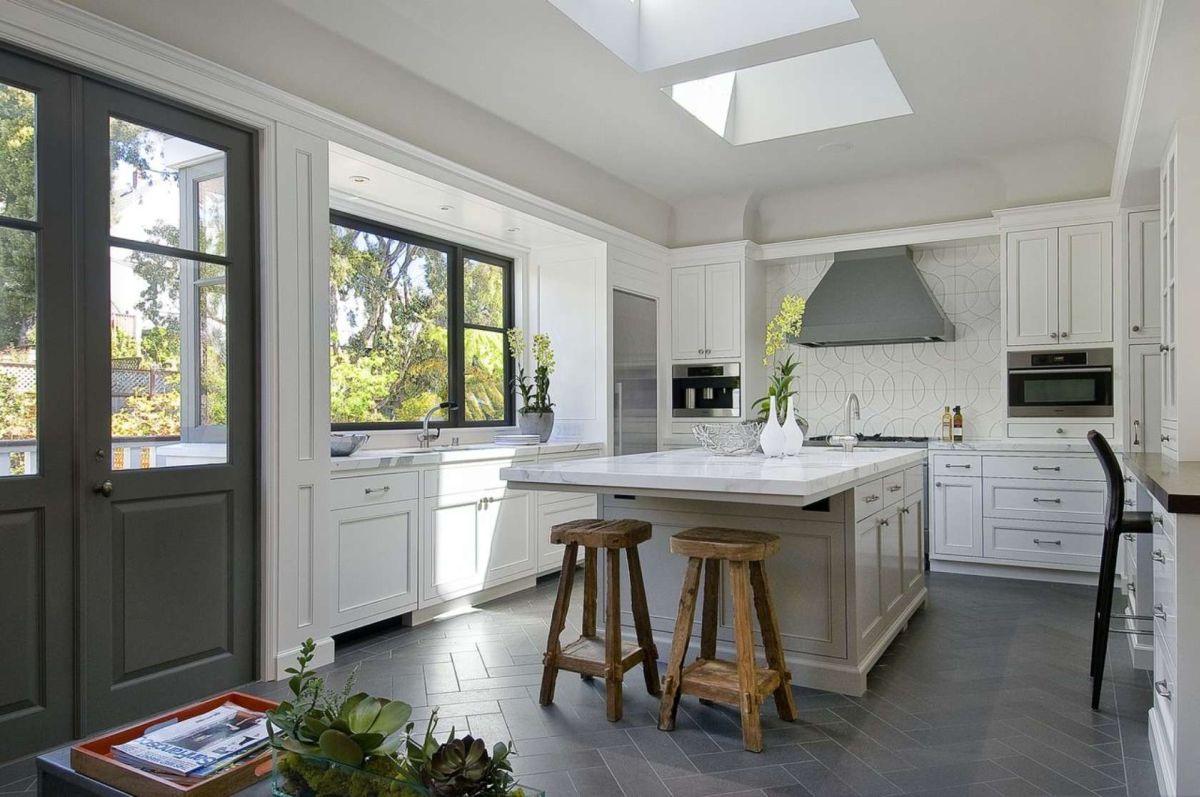 best options for kitchen flooring gray kitchen floor