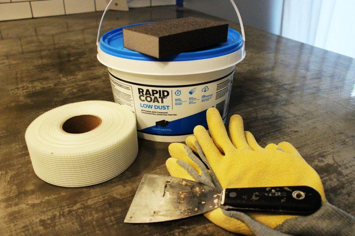 install or repair drywall installing kitchen backsplash Materials to repair a drywall for kitchen backsplash