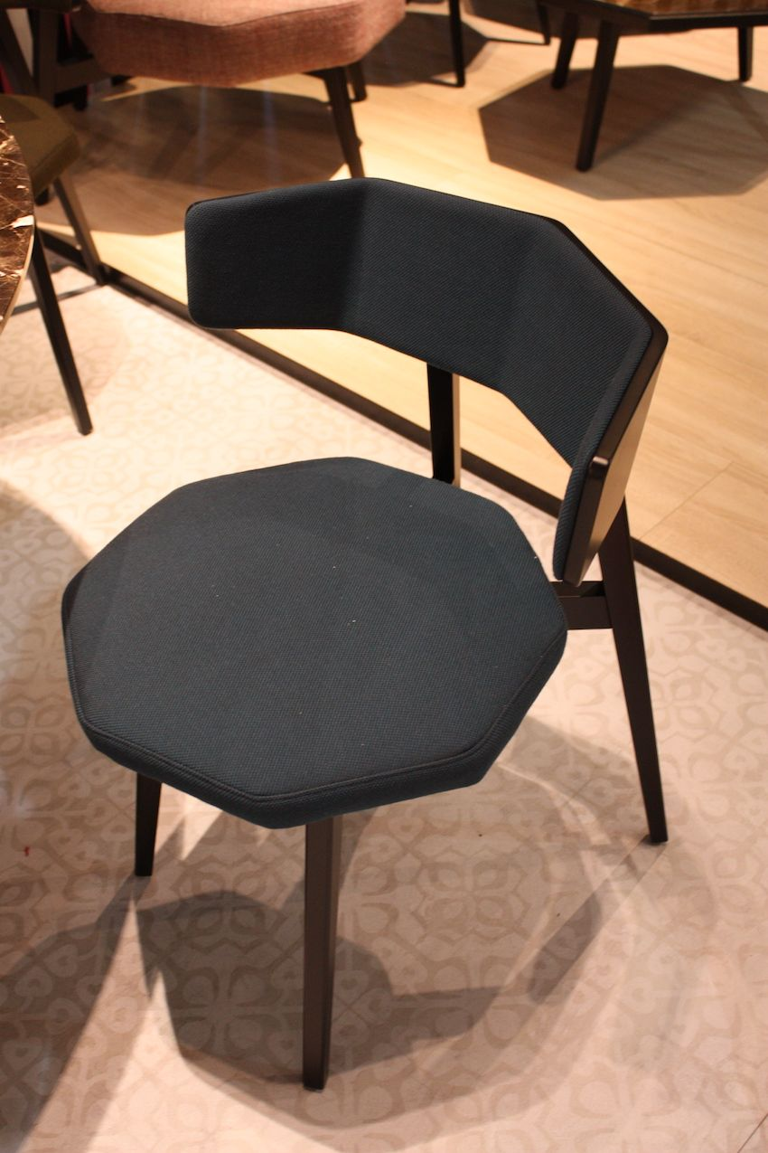 dining room chairs a stylish decor update comfortable kitchen chairs The octagonal shaped seat of this modern dining chair from Potocco is unusual as is