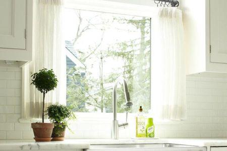 clic kitchen white curtains