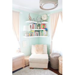 Small Crop Of Floating Living Room Shelves