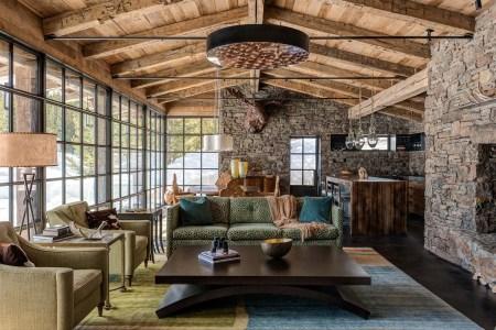 rustic living room natural colors