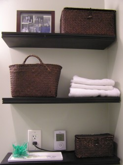 Scenic Bathroom Wall Small Shelf Ideas That Will Enlarge Your Room Small Wicker Shelf Warm Bathroom Shelving Idea Bathroom Storage Hacks Bathroom Wall