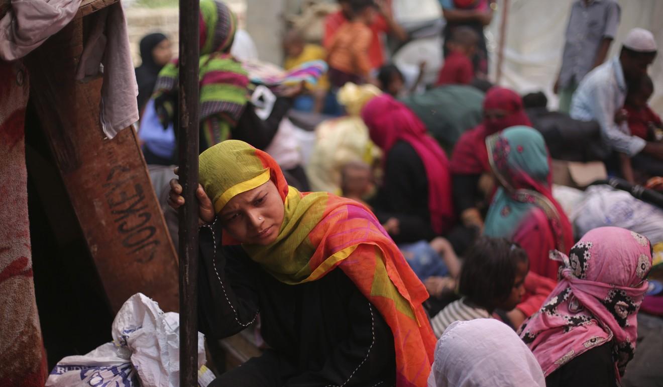 A Rohingya woman at a temporary shelter in New Delhi, India. Photo: AP